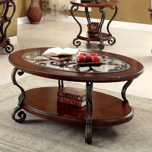 MAY Brown Cherry Coffee Table - Canales Furniture