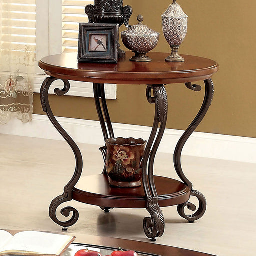 MAY Brown Cherry End Table - Canales Furniture