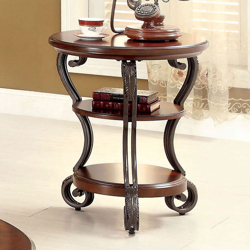 MAY Brown Cherry Side Table - Canales Furniture