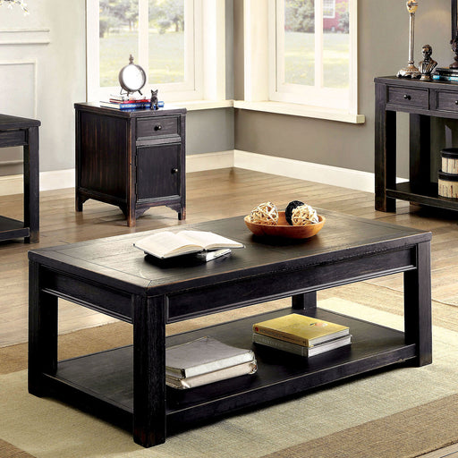 MEADOW Antique Black Coffee Table - Canales Furniture