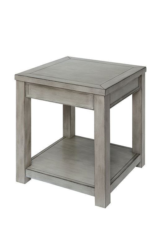 Meadow Antique White End Table - Canales Furniture