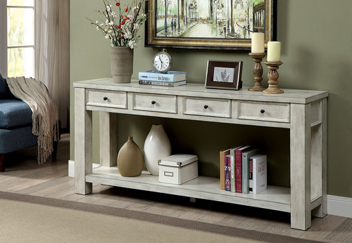 Meadow Antique White Sofa Table - Canales Furniture