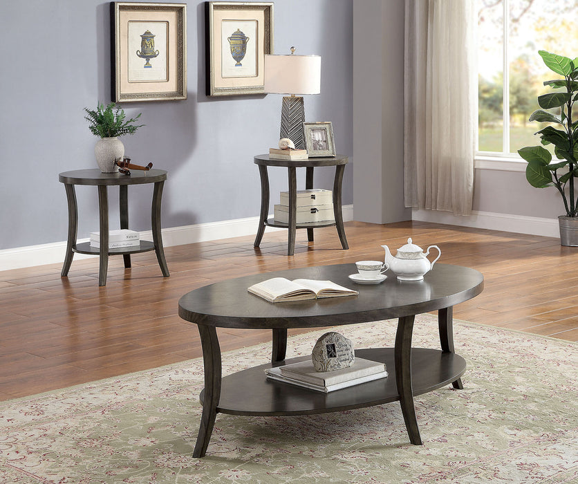 Paola Gray 3 Pc. Coffee Table Set - Canales Furniture