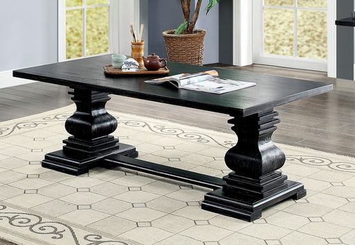 Mirabel Antique Black Coffee Table - Canales Furniture