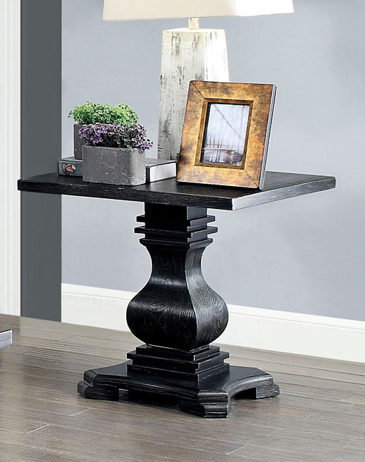 Mirabel Antique Black End Table - Canales Furniture