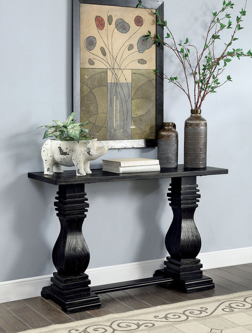 Mirabel Antique Black Sofa Table - Canales Furniture