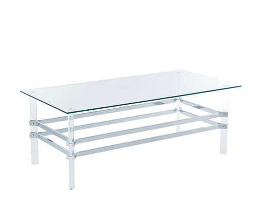Trofa Chrome Coffee Table - Canales Furniture