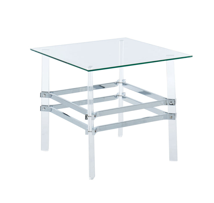 Trofa Chrome End Table - Canales Furniture