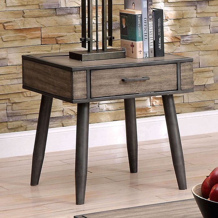 Vilhelm II Gray End Table - Canales Furniture