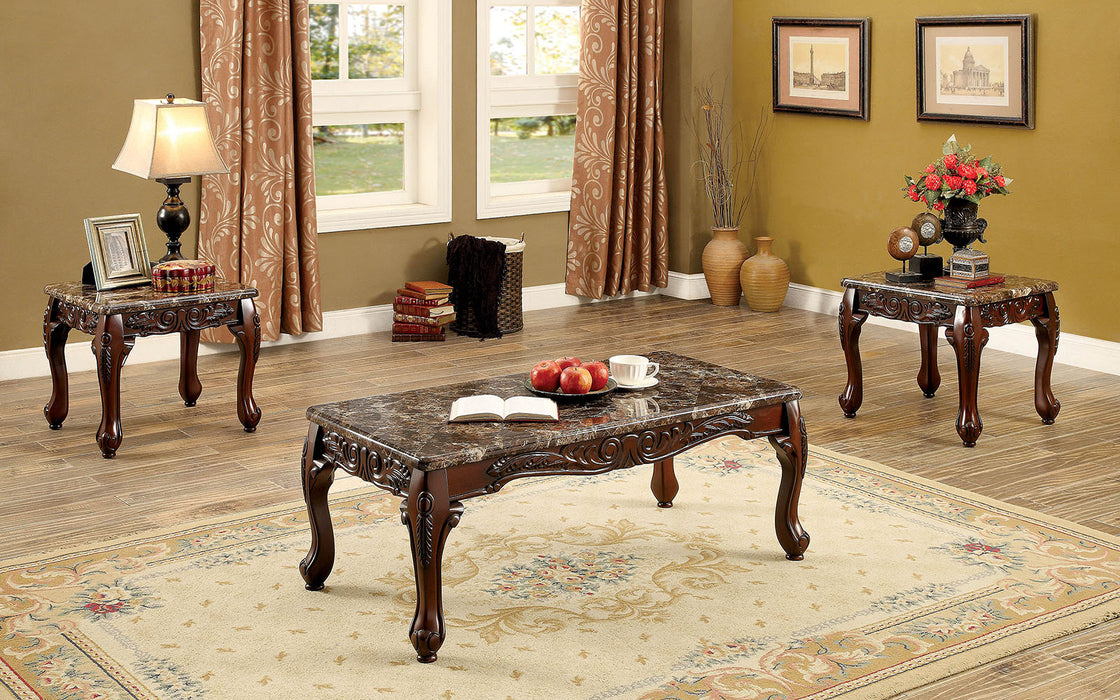Lechester Dark Oak/Brown 3 Pc. Coffee Table Set - Canales Furniture