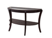 Finley Espresso Semi-Oval Coffee Table - Canales Furniture