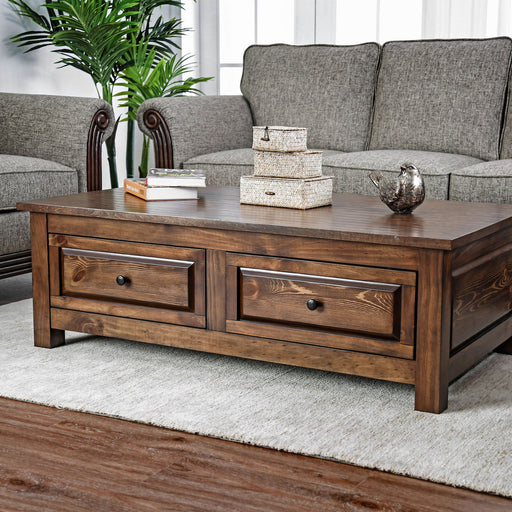 Annabel Walnut Coffee Table - Canales Furniture