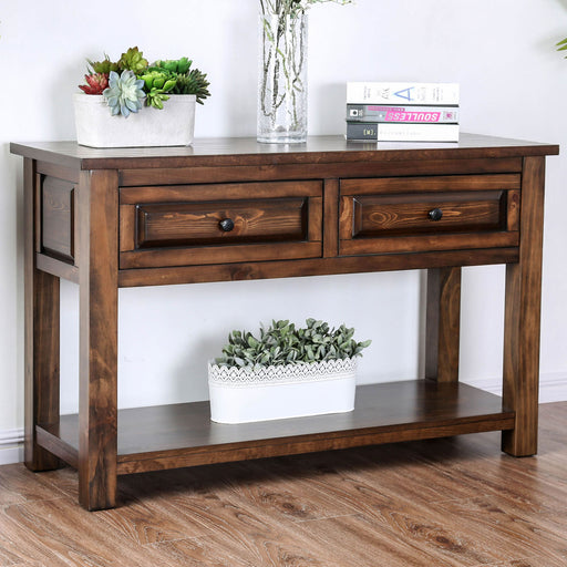 Annabel Walnut Sofa Table - Canales Furniture