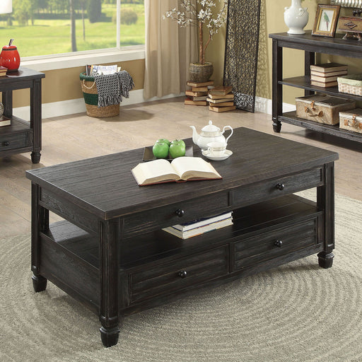 Suzette Antique Black Coffee Table, Antique Black - Canales Furniture