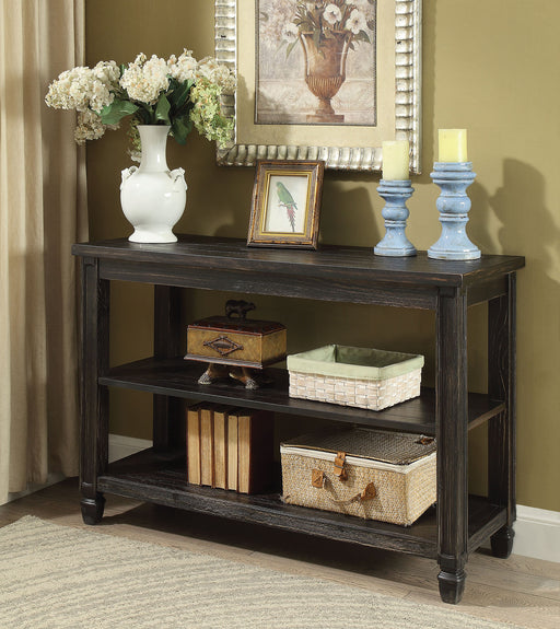Suzette Antique Black Sofa Table, Antique Black - Canales Furniture