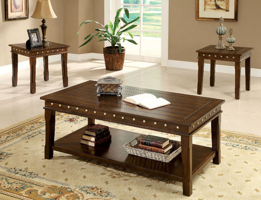 Fenwick Walnut 3 Pc. Coffee Table Set - Canales Furniture
