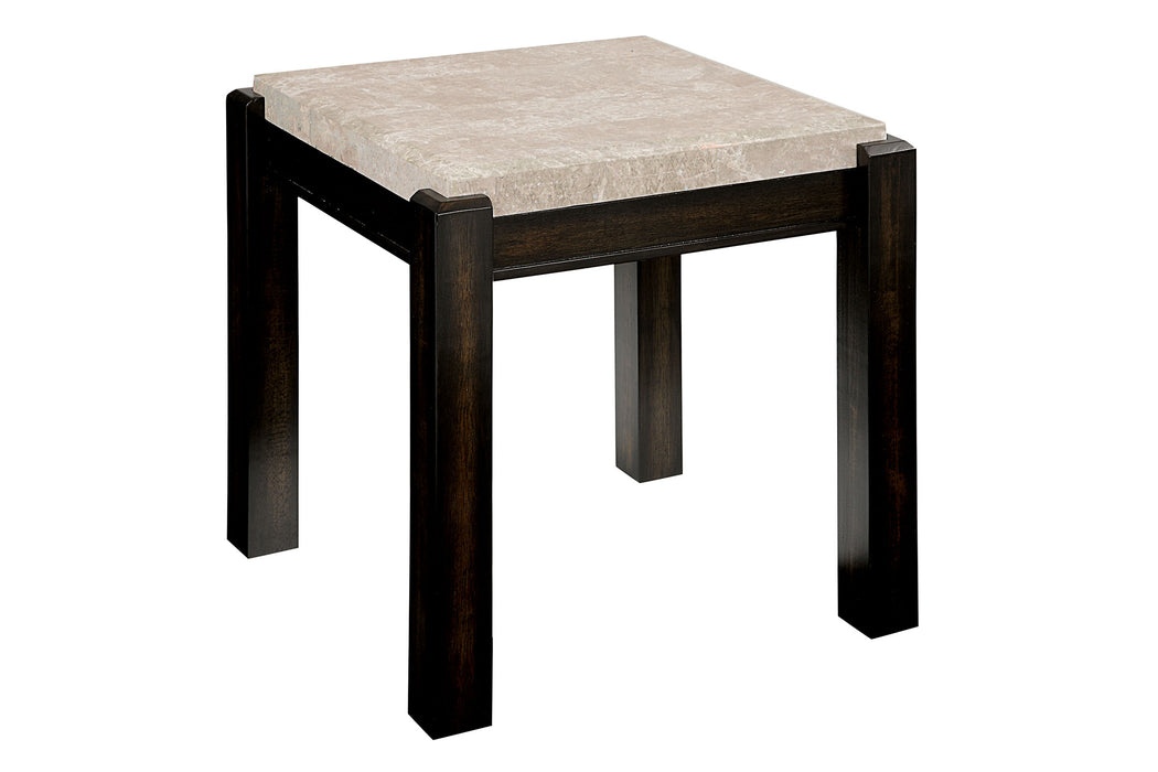 GLADSTONE III Dark Walnut/Ivory End Table - Canales Furniture