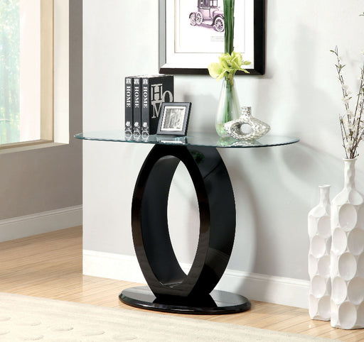 LODIA III Black Sofa Table, Black - Canales Furniture