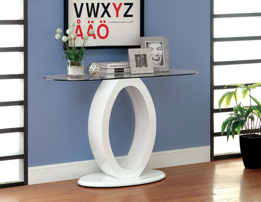 LODIA III White Sofa Table, White - Canales Furniture
