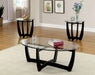 Dafni Black 3 Pc. Table Set - Canales Furniture