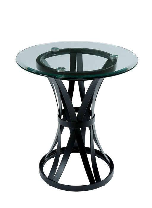 Oviola Black End Table - Canales Furniture