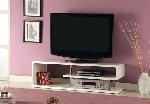 "Ninove II White 55"" TV Console - Canales Furniture"
