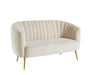 Dionne Ivory Love Seat, Ivory - Canales Furniture