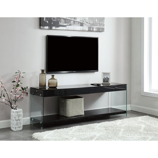 "Sabugal Black 70"" TV Stand - Canales Furniture"