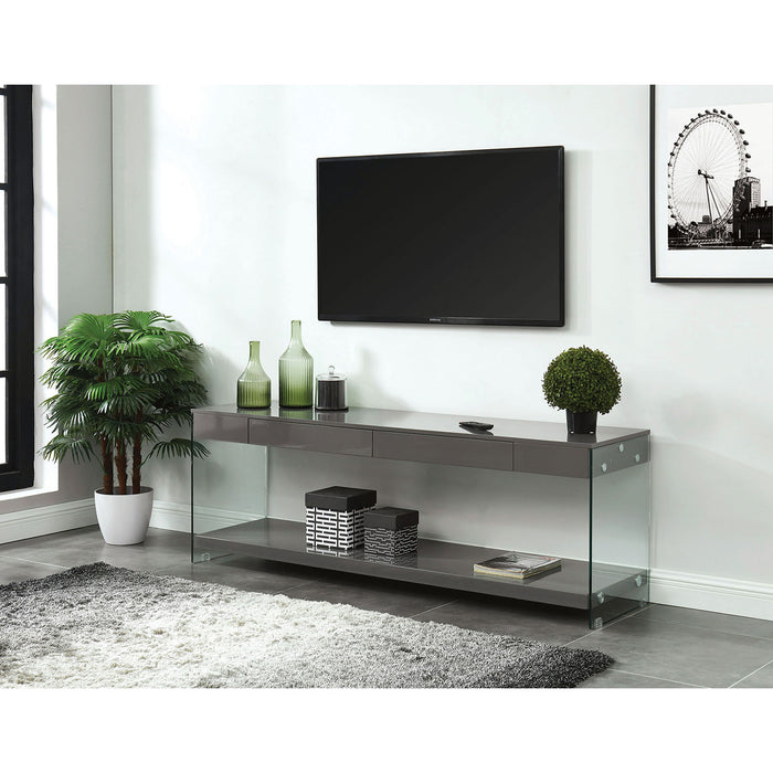 "Sabugal Gray 60"" TV Stand - Canales Furniture"