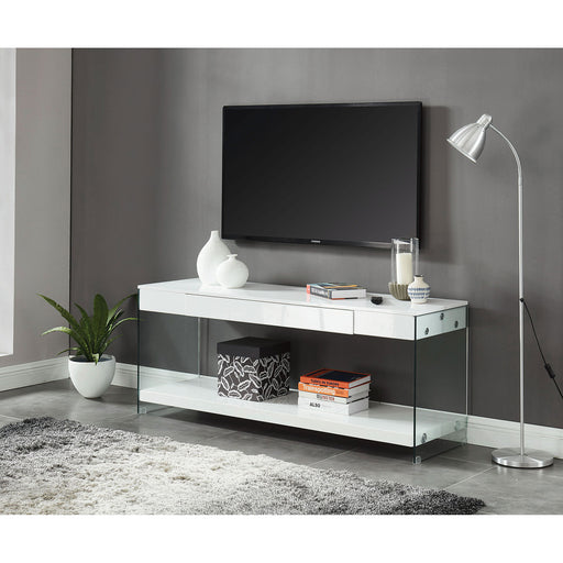 "Sabugal White 70"" TV Stand - Canales Furniture"