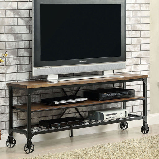 "VENTURA II Medium Oak 54"" TV Stand - Canales Furniture"