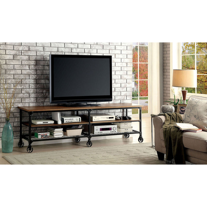 "VENTURA II Medium Oak 72"" TV Stand - Canales Furniture"