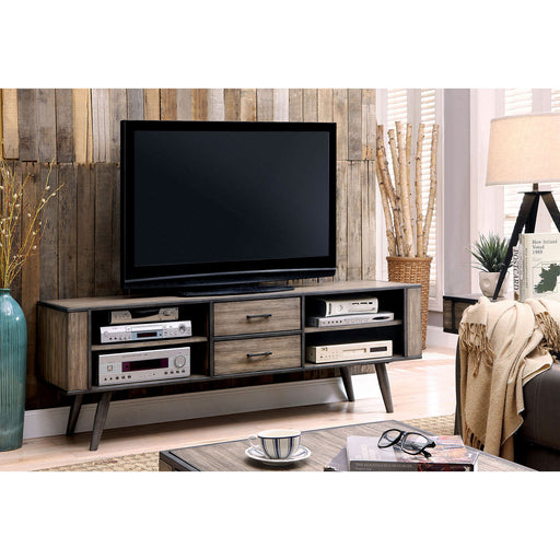 "Vilhelm II Gray 72"" TV Console - Canales Furniture"