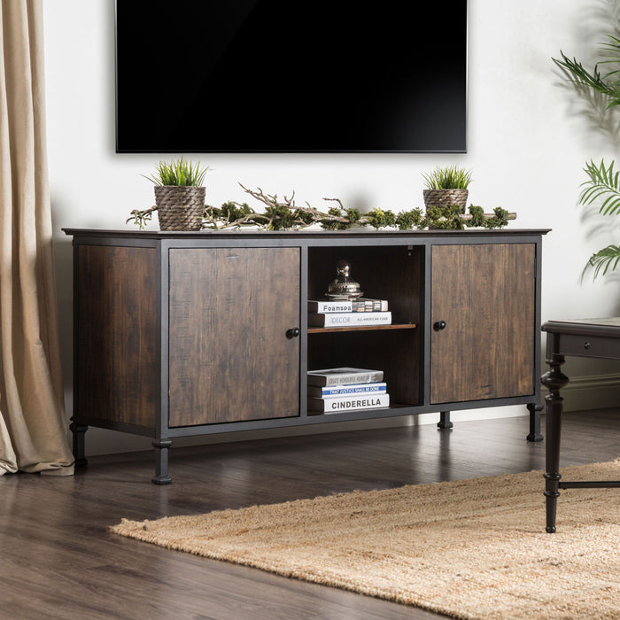 "Broadland Medium Weathered Oak 60"" TV Stand - Canales Furniture"