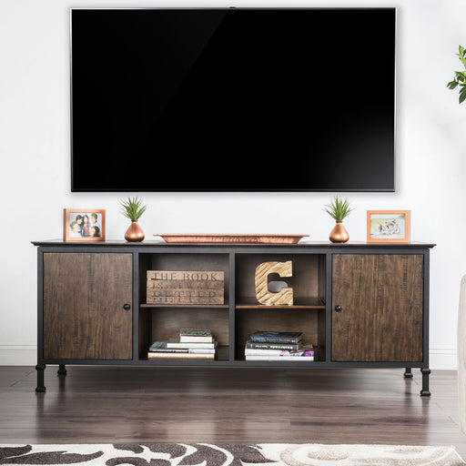"Broadland Medium Weathered Oak 72"" TV Stand - Canales Furniture"