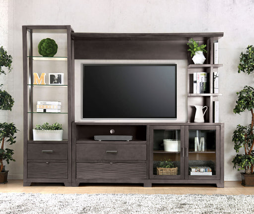 Tienen Gray TV Stand Set - Canales Furniture