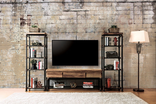 Kebbyll Antique Black/Natural Tone 3 Pc. Set (TV + 2 PC) - Canales Furniture