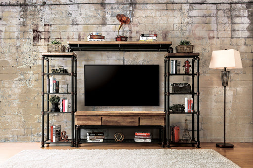 Kebbyll Antique Black/Natural Tone 4 Pc. Set (TV + 2 PC + BR) - Canales Furniture