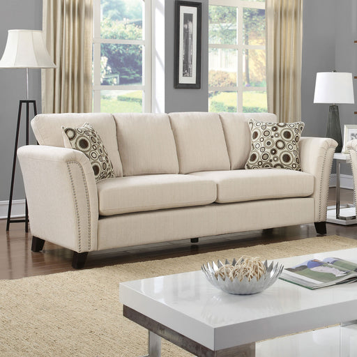 CAMPBELL Ivory Sofa, Ivory - Canales Furniture