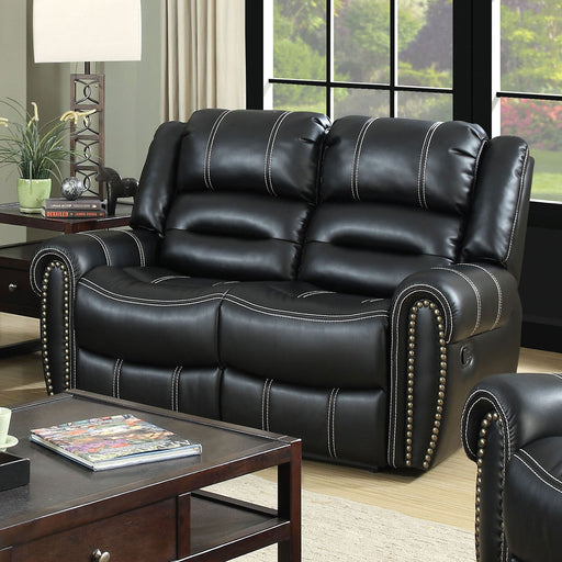 FREDERICK Black Love Seat - Canales Furniture