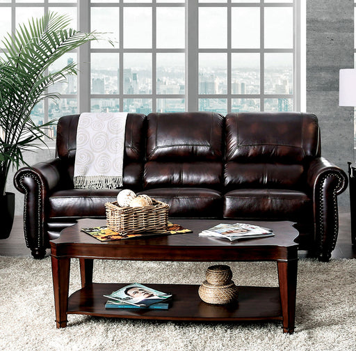 Edmont Brown Sofa - Canales Furniture