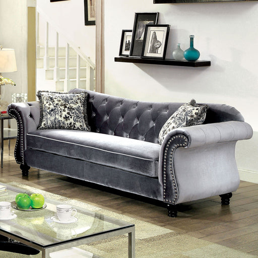 JOLANDA Gray Sofa - Canales Furniture