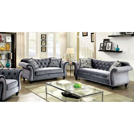 JOLANDA Gray Sofa + Love Seat - Canales Furniture