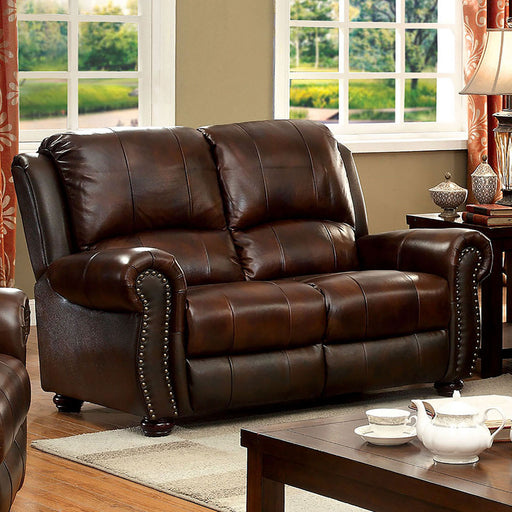 TURTON Brown Love Seat - Canales Furniture