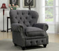 STANFORD Gray Chair, Gray - Canales Furniture