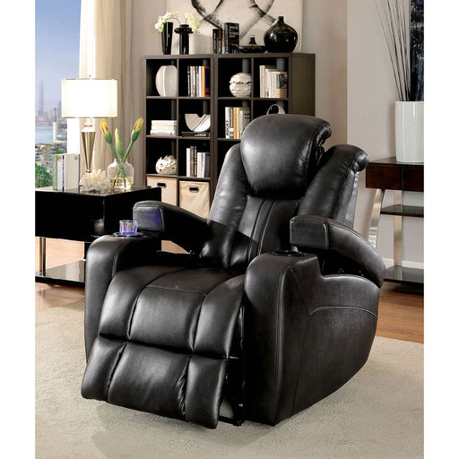 ZAURAK Dark Gray Recliner - Canales Furniture