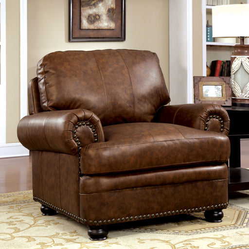 RHEINHARDT Brown Chair, Brown - Canales Furniture