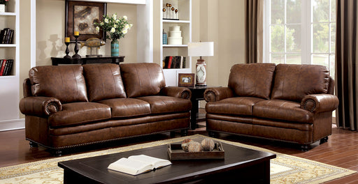 RHEINHARDT Brown Sofa + Love Seat - Canales Furniture