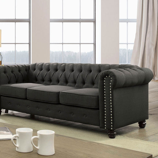 Winifred Gray Sofa - Canales Furniture