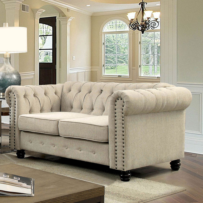 Winifred Ivory Love Seat - Canales Furniture